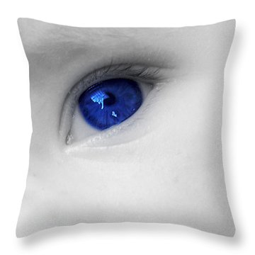 Baby Blue Throw Pillow by Nina Ficur Feenan