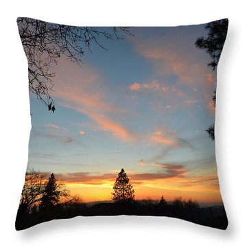 Baby Blue Sky Throw Pillow by Tom Mansfield