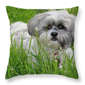 Baby Breath Throw Pillow