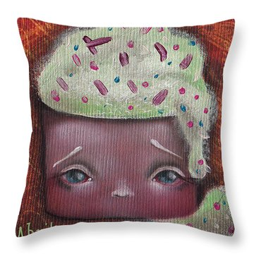 Baby Cakes II Throw Pillow by Abril Andrade Griffith