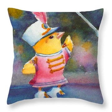 Baby Chick Drum Majorette Throw Pillow