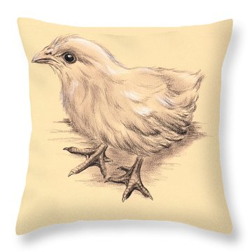 Baby Chicken Throw Pillow by MM Anderson