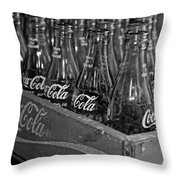 Baby Cokes Throw Pillow