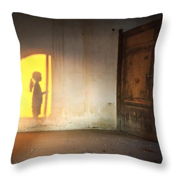 Baby Do Not Open That Door Throw Pillow