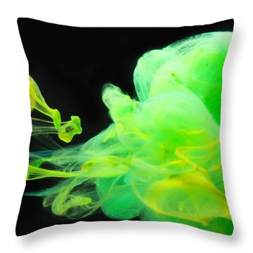 Baby Dragon - Abstract Photography Wall Art Throw Pillow by Modern Art Prints