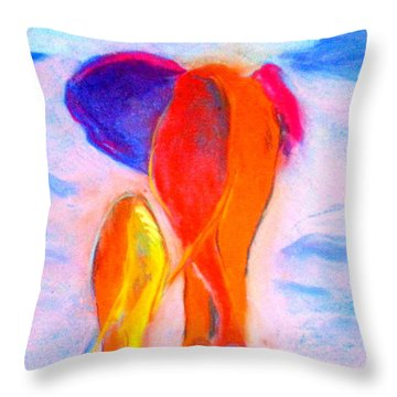 Baby Elephant And Mom Throw Pillow