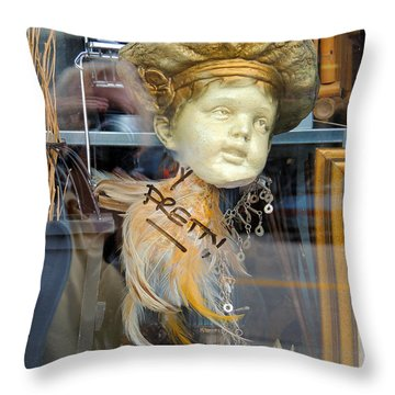 Baby Face  Throw Pillow by Marcia Lee Jones