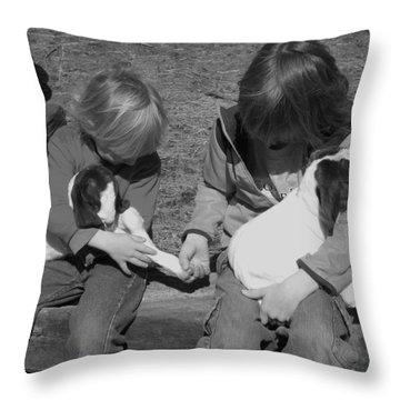 Baby Feet Throw Pillow by Sheri Lauren Schmidt