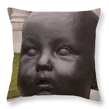Baby Head Throw Pillow