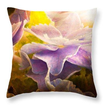 Baby Hydrangeas Throw Pillow by Bob Orsillo