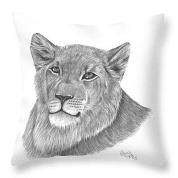 Throw Pillow featuring the drawing Baby King by Patricia Hiltz