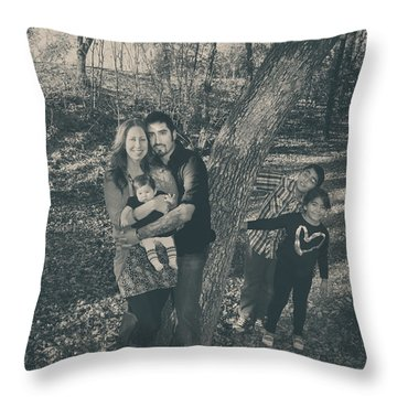 Baby Makes Five Throw Pillow by Laurie Search