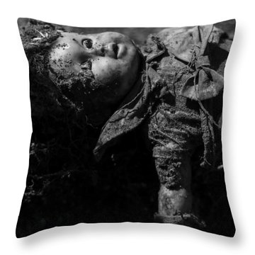 Throw Pillow featuring the photograph Baby Mine by Rebecca Sherman
