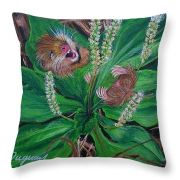 Throw Pillow featuring the painting Baby   Molly  by Sharon Duguay