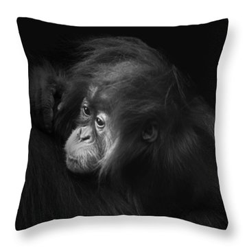 Baby Orangutan Throw Pillow
