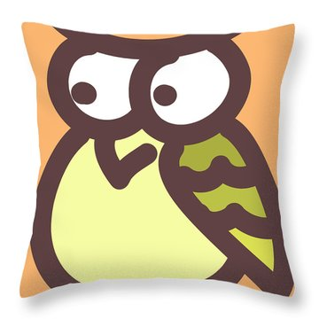 Baby Owl Nursery Wall Art Throw Pillow by Nursery Art