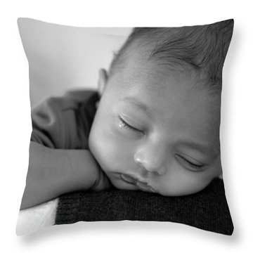 Baby Sleeps Throw Pillow