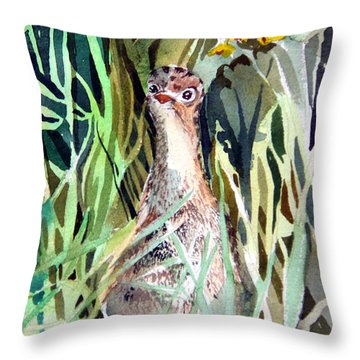 Baby Wild Turkey Throw Pillow by Mindy Newman