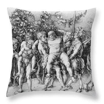 Bacchanal With Silenus - Albrecht Durer Throw Pillow