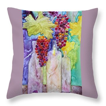 Bacchus Throw Pillow by Nancy Jolley