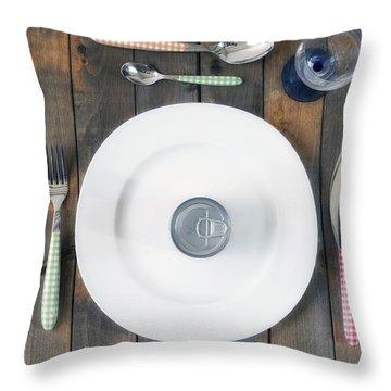 Bachelor's Dinner Throw Pillow by Joana Kruse