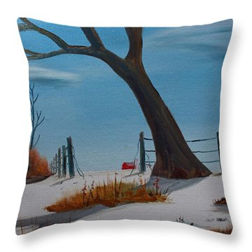 Throw Pillow featuring the painting Back 40 by Jack G  Brauer