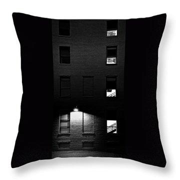 Back Alley 330am Throw Pillow by Bob Orsillo