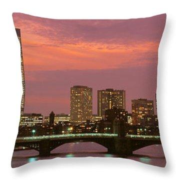Back Bay, Boston, Massachusetts, Usa Throw Pillow
