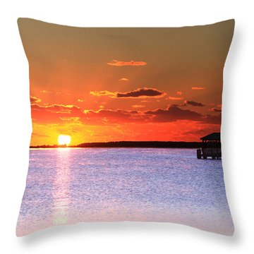 Back Bay Sunrise Throw Pillow