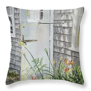 Back Door Nantucket Throw Pillow by Carol Flagg
