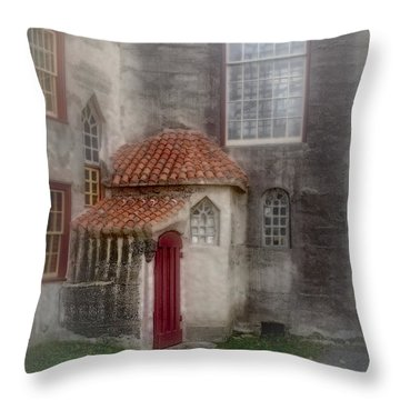 Back Door To The Castle Throw Pillow by Susan Candelario