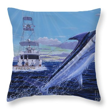Back Her Down Off00126 Throw Pillow by Carey Chen