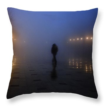 Back Home Alone Throw Pillow