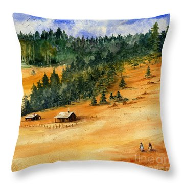 Back Home Throw Pillow by Marilyn Smith