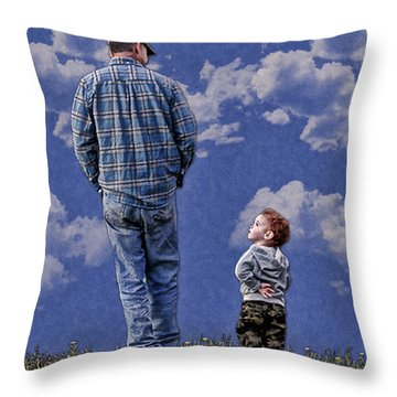Back In The Day Throw Pillow by Denise Romano
