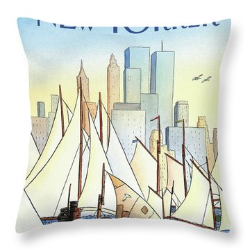 Back In The New World Throw Pillow