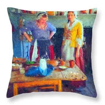 Back In Time Throw Pillow by Rick Todaro