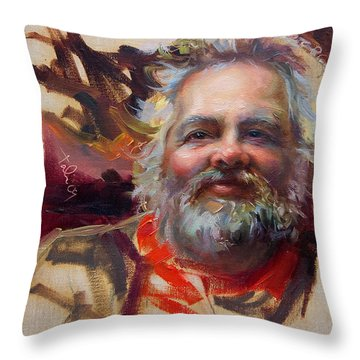 Back In Town Throw Pillow by Talya Johnson