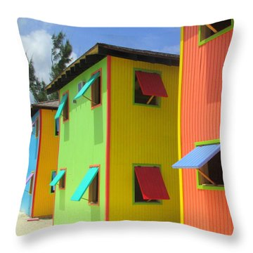 Back Of Cabins 2 Throw Pillow by Randall Weidner