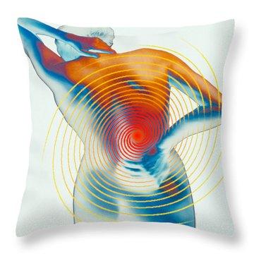 Back Pain Throw Pillow by Dennis D Potokar