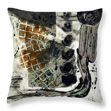 Back Path Throw Pillow by Lesley Fletcher