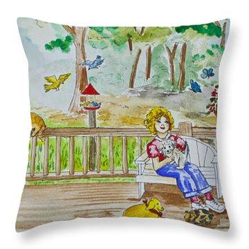 Back Porch Throw Pillow