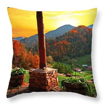 Back Porch Paradise Throw Pillow