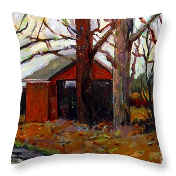 Back Roads Throw Pillow by Charlie Spear