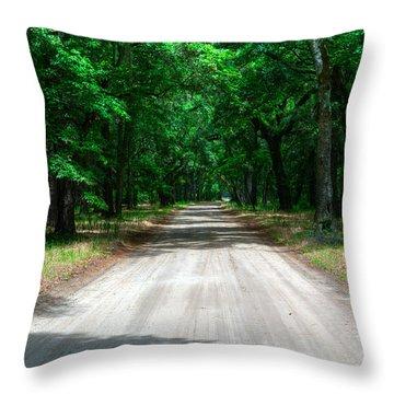 Back Roads Of South Carolina Throw Pillow