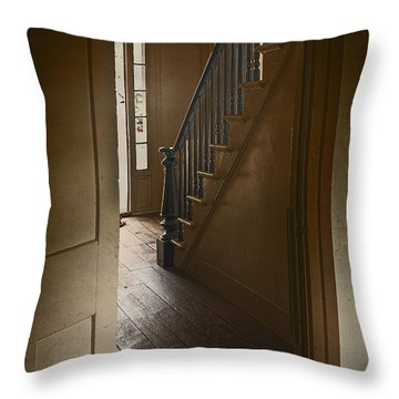 Back Stairway Throw Pillow by Margie Hurwich