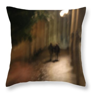Throw Pillow featuring the photograph Back Street Of Barcelona Cathedral by Erhan OZBIYIK