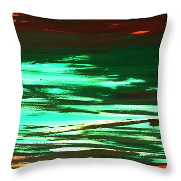 Back To Canvas The Landscape Of The Acid People Throw Pillow