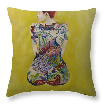 Back To Fantasy Throw Pillow by Esther Newman-Cohen