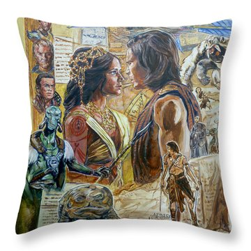 Back To Mars Throw Pillow